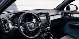 Volvos elbiler, her C40 Recharge, skal ikke være kledd av skinn. (Fotos: Volvo)