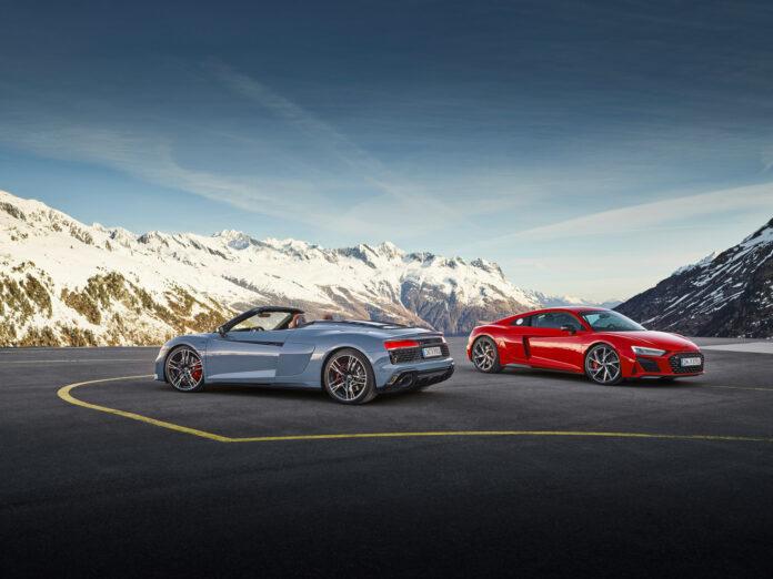Audi kommer nå med to nye utgaver av R8 RWD som øker kreftene ytterligere. (Fotos: Audi)