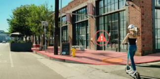 Ny teknologi skal hindre elektriske sparkesykler fra å kjøre på fortauet. (Fotos: Bird)
