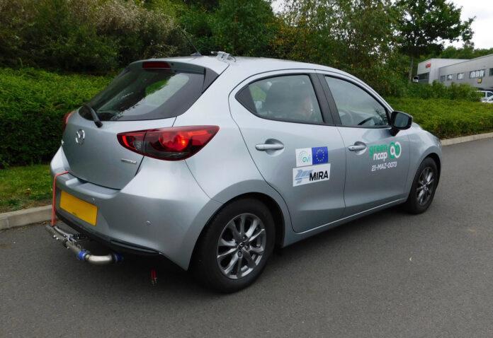 Lille og ikke minst lette Mazda 2 er en ganske så effektiv bil, og dermed også snill mot miljøet. (Fotos: Green NCAP)