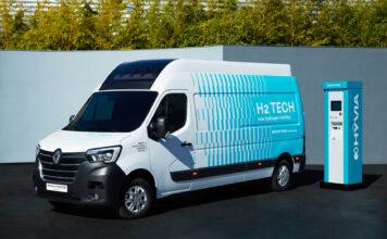 Renault viser en prototype av Master som bruker hydrogen, og denne skal komme på markedet neste år. (Fotos: Renault)