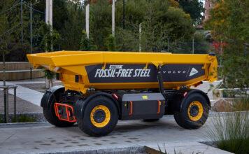 Volvo har vist fram det første kjøretøyet laget av fossilfritt stål. (Fotos: Volvo)