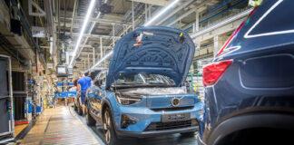 Volvos andre elbil, C40 Recharge, har nå gått inn i produksjon. (Fotos: Volvo)